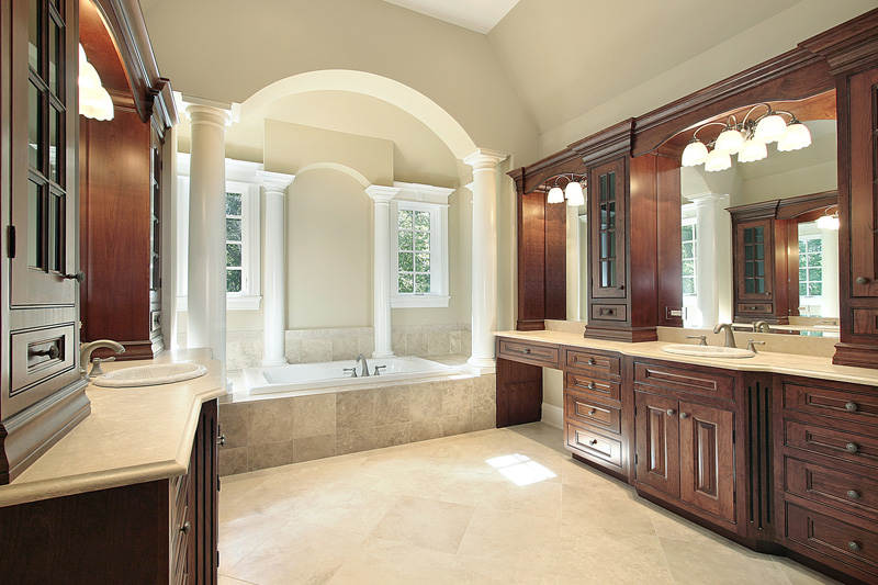 Custom High End Bathroom Vanities indianapolis custom home builders' master bathroom design tips